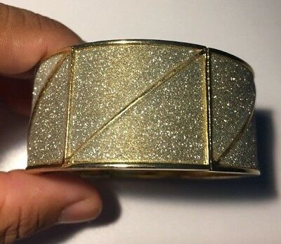 Gold Tone Rhinestones Fashion Cuff Bracelet Jewelry Birthday Wedding Gift-L36