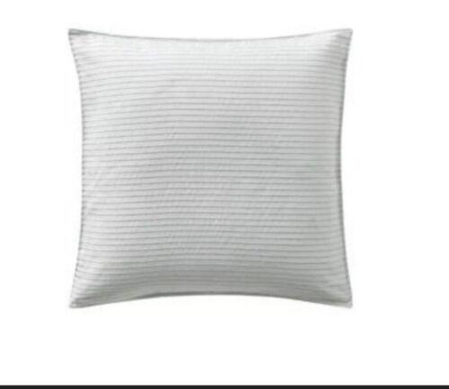 Highline Bedding Co Belize Blue Haze Stripe Euro Sham Pillow Sham Set Of Two New Bedding