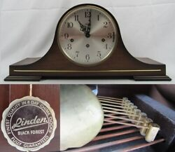 TRIPLE CHIME mantel clock LINDEN 8-day WESTMINSTER & St. Michaels & Whittington