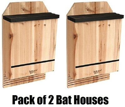2  Pack Nature's Way CWH6 Triple Chamber Cedar Bat Houses