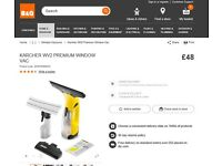 New and Boxed Cordless Windown VAC Karcher WV2 £48 from B & Q