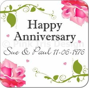 Personalised-Shabby-Chic-Anniversary-Gift-Coaster-Silver-Gold-Diamond