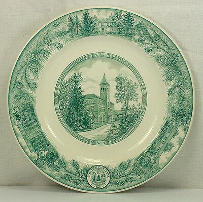 ANTIQUE WEDGWOOD GREEN TRANSFERWARE WINGATE HALL UNIVERSITY OF MAINE PLATE