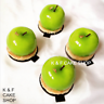 8 X Apple Silicone Mold Fruit Baking Mold Art Mousse Cake Pudding Chocolate Mold