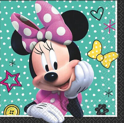 Minnie Mouse Napkins (MINNIE MOUSE Happy Helpers Birthday Party beverage PAPER NAPKINS 16pcs)