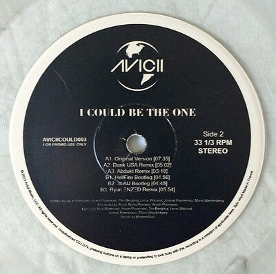 "AVICII VS NICKY ROMERO "" I COULD BE THE ONE ""  12"" PROMO VINYL NEW HOUSE RARE"