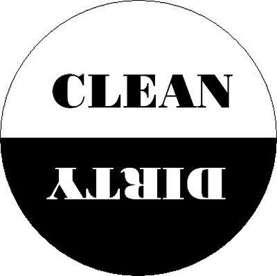 Black White  Dishwasher Magnet Clean Dirty portable