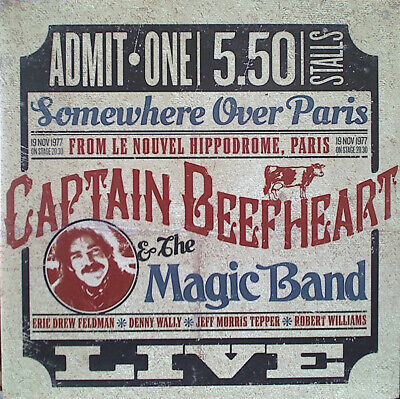 Captain Beefheart & The Magic Band Somewhere Over Paris 2 LP Vinyl Record Album