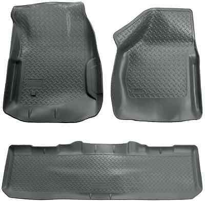 Husky Liners Classic Grey Front & Rear Floor Mats for F-350 Super Duty Crew Cab Cab Grey Front Floor Liners