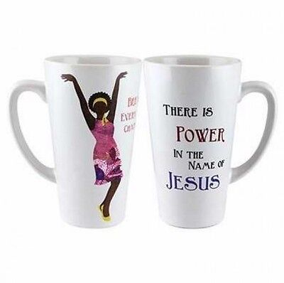 (POWER IN THE NAME OF JESUS 16 oz Latte Mug, by African American Expressions)