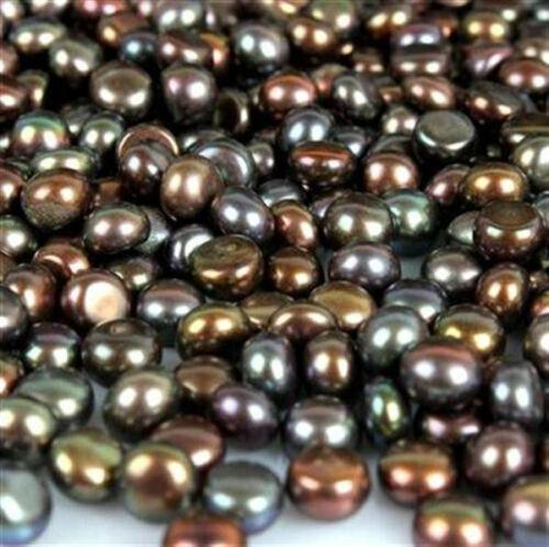 Round Natural Black Pearl Cabochon Gemstones Loose 150 Ct. Lot Freshwater Stone