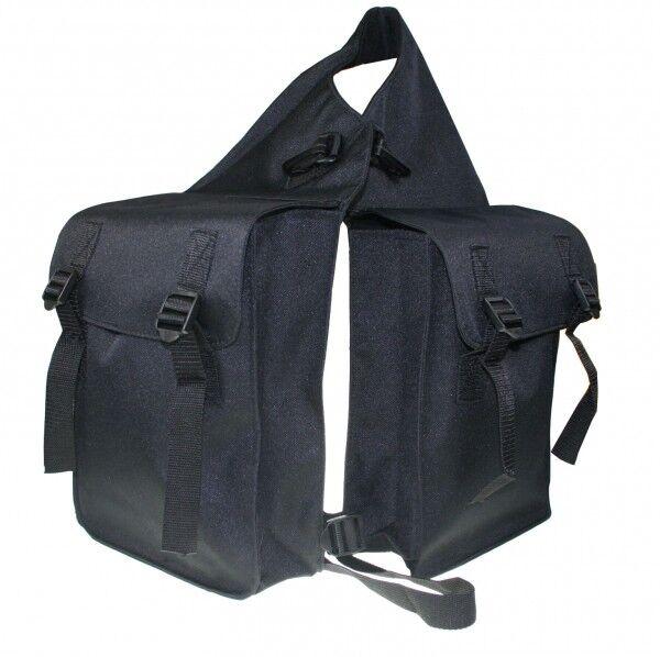 Satteltasche  Pferd Doppelsatteltasche für hinten schwarz ARBO-INOX