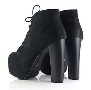 2013 Ladies 4 Color Lita platforms high heels Lace Up Ankle shoes boots AU5-10