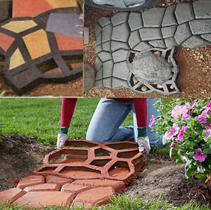 Driveway Paving Pavement Mold Concrete Path Garden Walk Maker Mould Funny DIY UK