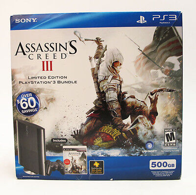 Sony Playstation 3 500GB Assassin's Creed 3 Bundle on Rummage
