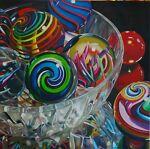 Eddie Seese Art Glass Marbles