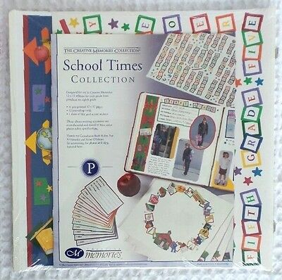 CREATIVE MEMORIES Scrapbook PAGES 12x12 SCHOOL TIMES Collection Sealed