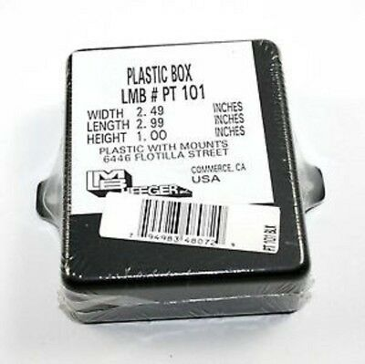Electronic Black Plastic Project Box With Tabs 2.49 X 3 X 1 Pt101