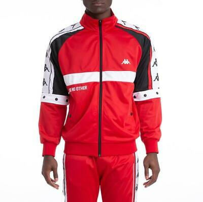 KAPPA Authentic Bafer Track Jacket 304IDF0-900 Red/White/Black Brand New Withtag