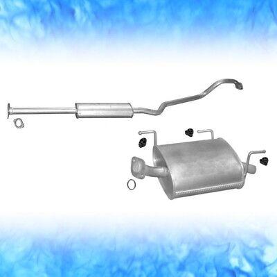 Auspuff Nissan Almera II 1.5 66 72 KW 2000-2006 Schrägheck Auspuffanlage A163