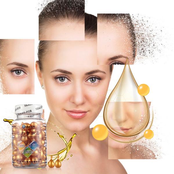Vitamin E Gesichtsöl Kapseln Serum anti Falten anti aging 90pcs. Gesichtscreme