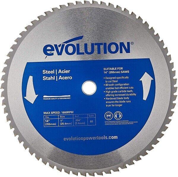 "Evolution 14"" Bladest Steel Chop Saw Blade 66-Tooth - Free s"