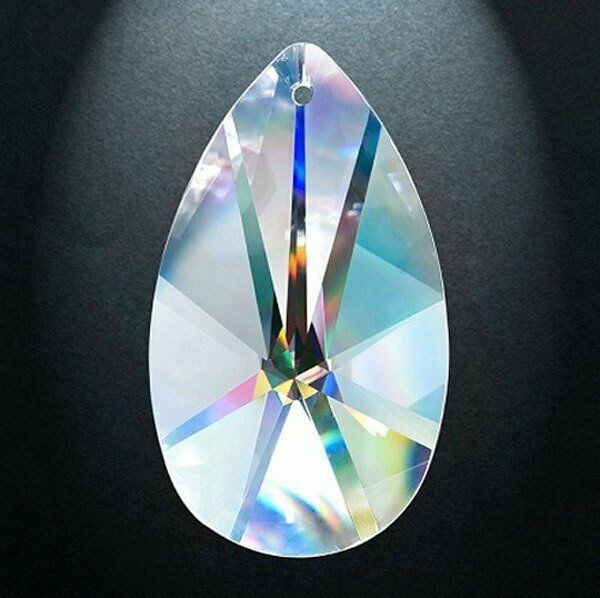 SET of 44-38MM CLEAR Asfour Lead Crystal Pearshape #873 European Cut Teardrop