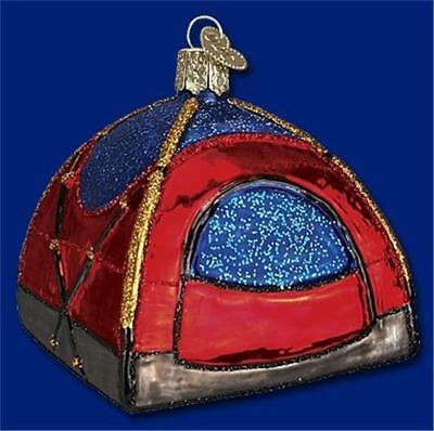 DOME TENT OLD WORLD CHRISTMAS GLASS CAMPING GEAR OUTDOORS ORNAMENT NWT 44056