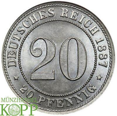 AA1364) J.6 KAISERREICH 20 Pfennig 1887 A