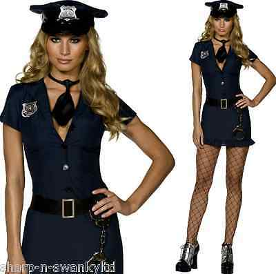 Ladies Sexy Fever Naughty Cop Police Officer Uniform Fancy Dress Costume Outfit ()