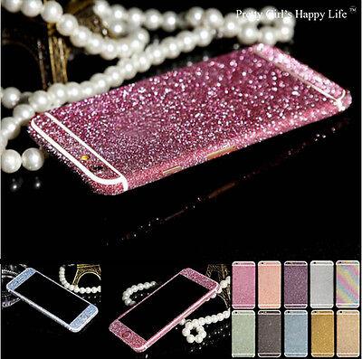 Full Body Glitter Bling Sticker Protector Case Cover Skin for iPhone Samsung