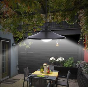 Vintage Solar Powered Rechargeable LED Garage Shed Light Outdoor Garden Light