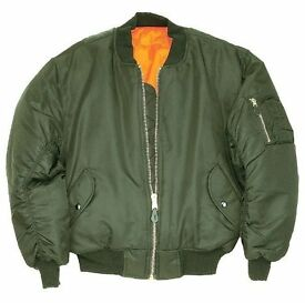 Brand New..MA1 Flight Bomber Jacket - Olive Size (L) RRP £49.99.Only one left !!!.....Bargain @ £15