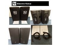 2 x Electrovoice ZLX15P 15 Inch Active Speakers [Inc Bags and power cables]