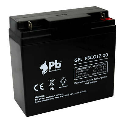 Batería carro de golf/moto eléctrica PB Gel Ciclo profundo PBCG12-20 12V 20Ah