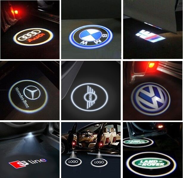 Car Parts - 2x LED Car Door Welcome Projector Logo light for Benz Audi BMW VW Land Rover