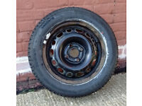 Excellent condition steel wheel and new tyre for Vauxhall Corsa C