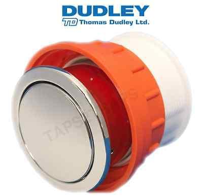 THOMAS DUDLEY VANTAGE C/P SINGLE FLUSH 73.5mm ROUND PNEUMATIC TOILET PUSH BUTTON