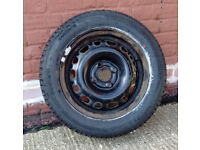 Excellent steel wheel and new tyre for Vauxhall Corsa C