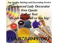 Local Lady Painter& Decorator**Call or text for free quote**