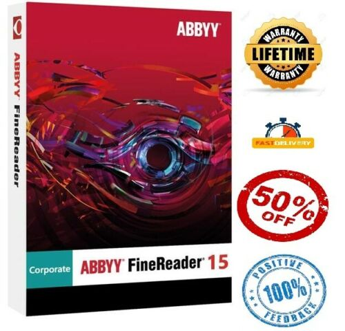 ABBYY FineReader 15 Activated✔Fast Delivery✔Lifetime Warranty Multilingual PDFs