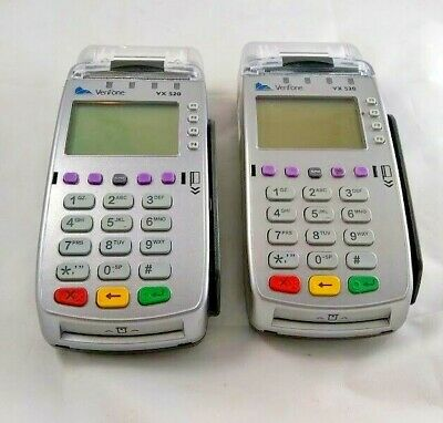 Lot Of 2 Verifone Vx 520 Credit Card Reader Receipt System Pos
