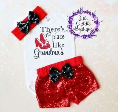 There's No Place Like Grandma's Baby Outfit, Baby Gift From Grandma, Grandma - Grandma Outfit
