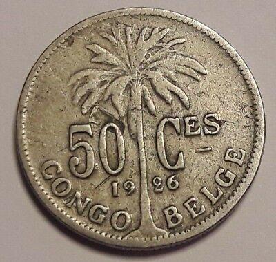 50 Centimes Centiemen  Belgisch CONGO  / Congo Belge 1926 FR
