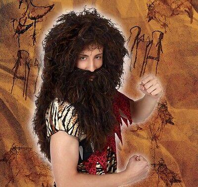 Perücke Herren Höhlen Kostüm Cro Magnon Robinson Neu - Perücken Billig