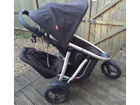 Phil & teds Vibe double buggy with ALL genuine extras