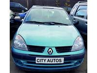 RENAULT CLIO 1.4 PETROL 5 DOOR 2005 REG 32,000 MILES AUTOMATIC BLUE