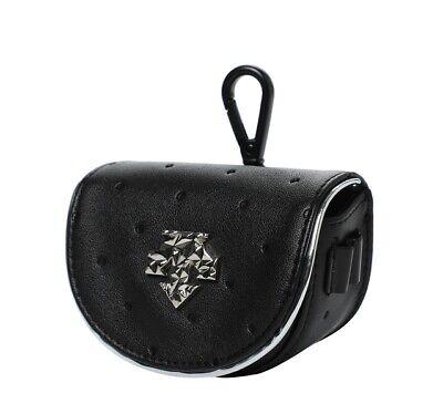 Descente Golf 21FW Female Ball Case Dark Metal Pattern Black Color