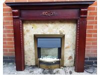 Electric Fire with Mahogany Fireplace and Marble surround