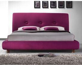 King size pink bed, comes with mattress